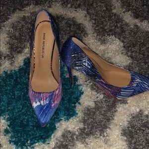 Multicolored pumps from Shoe Republic LA